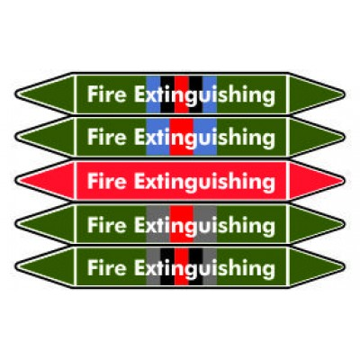 Fire Extinguishing Pipe Marker PMF 01a