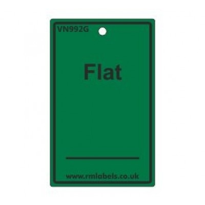 Flat Label in green Code VN992G