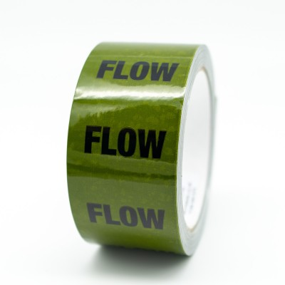 Flow Pipe Identification Tape - Green 12-D-45 - R M Labels - ID168T50G