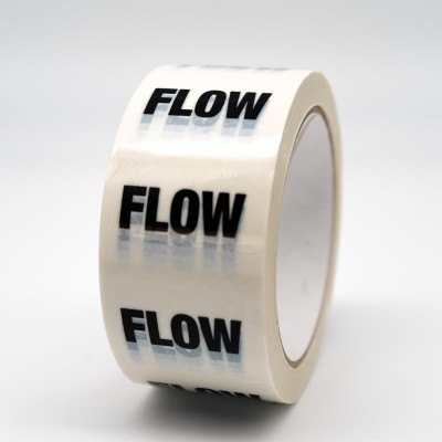 Flow Pipe Identification Tape - White - R M Labels - ID101T50W