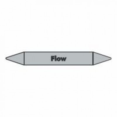 Flow Pipe Marker for steam self adhesive code PMS03a