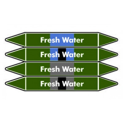 Fresh Water Pipe Marker PMW35a