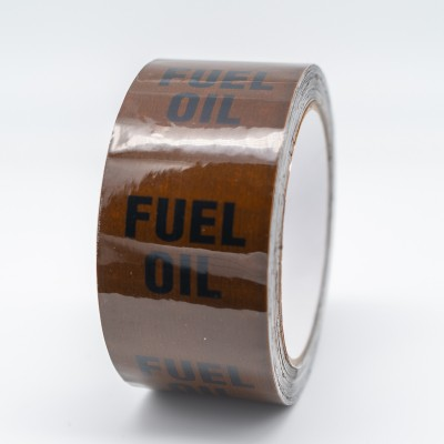 Fuel Oil Pipe Identification Tape - Brown 06-C-39 - R M Labels - ID180T50B