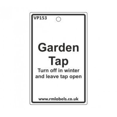 Garden Tap Label Code VP153