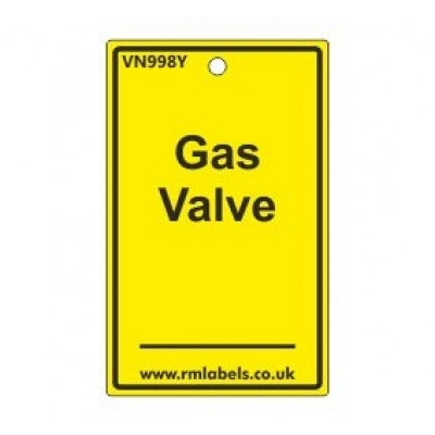 Gas Valve Label Code VN998Y