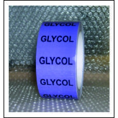 Glycol Pipe Identification Tape ID512T50V