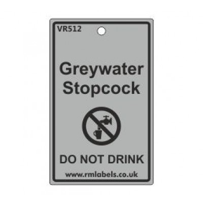 Greywater Stopcock Label Code VR512