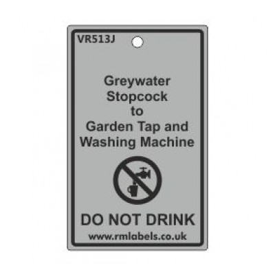 Greywater Stopcock to Garden Tap and Washing Machine Label Code VR513J