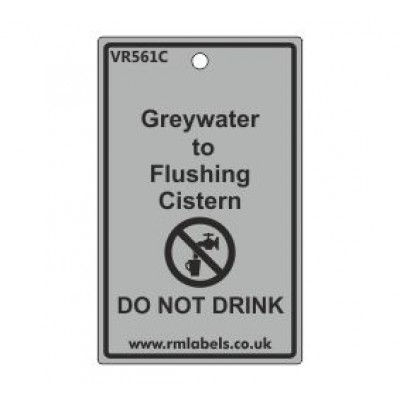Greywater to Flushing Cistern Label Code VR561C