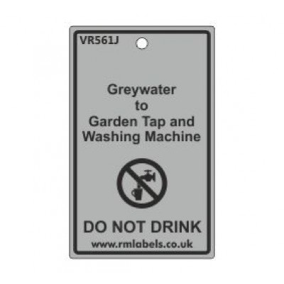 Greywater to Garden Tap and Washing Machine Label Code VR561J