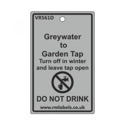 Greywater to Garden Tap Label Code VR561D