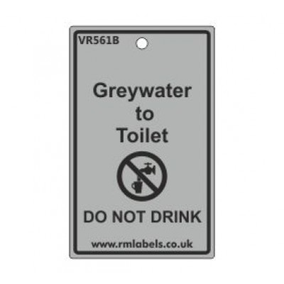 Greywater to Toilet Label Code VR561B
