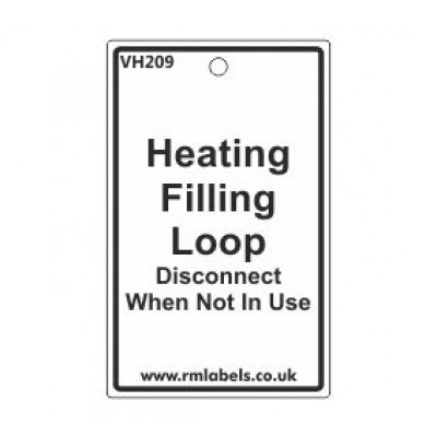 Heating Filling Loop Label Code VH209