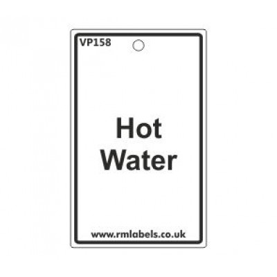 Hot Water Label Code VP158