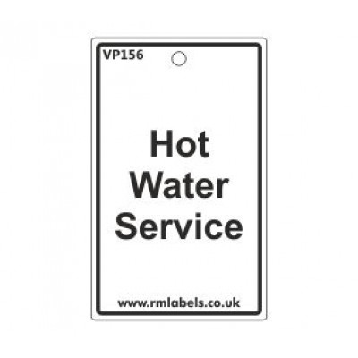 Hot Water Service Label Code VP156