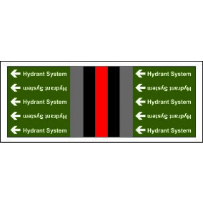 Hydrant System Pipe Banding for Non Potable Fire Safety Systems from Any Other Source PB030NFAOS