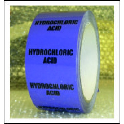 Hydrochloric Acid Pipe Identification Tape ID508T50V