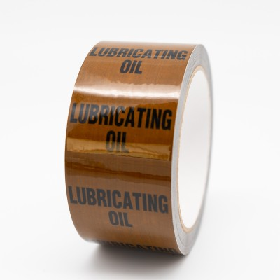 Lubricating Oil Pipe Identification Tape - Brown 06-C-39 - R M Labels - ID185T50B