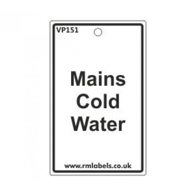 Mains Cold Water Label Code VP151