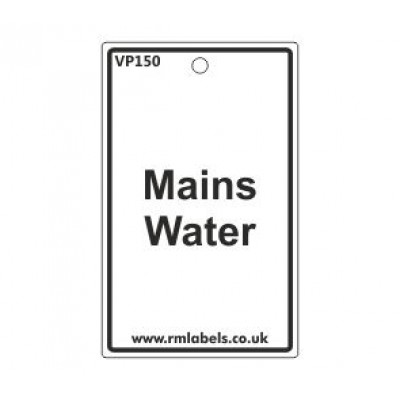 Mains Water Label Code VP150