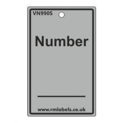 Number Label in grey Code VN990S