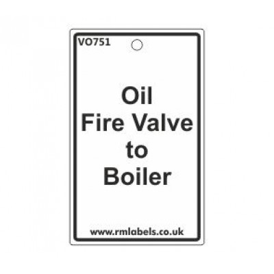 Oil Fire Valve to Boiler Label Code VO751