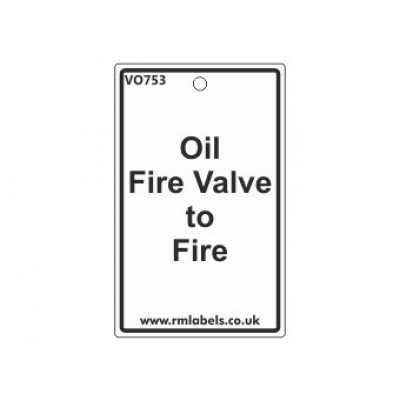 Oil Fire Valve to Fire Label Code VO753