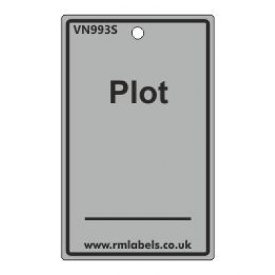 Plot Label in grey Code VN993S