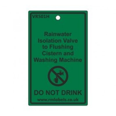 Rainwater Isolation Valve to Flushing Cistern and Washing Machine Label Code VR501H