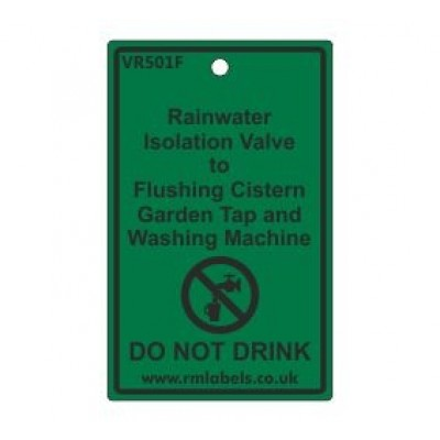 Rainwater Isolation Valve to Flushing Cistern Garden Tap and Washing Machine Label Code VR501F