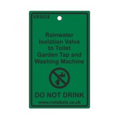 Rainwater Isolation Valve to Toilet Garden Tap and Washing Machine Label Code VR501E