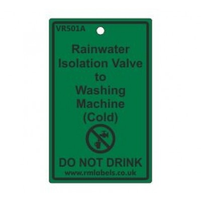 Rainwater Isolation Valve to Washing Machine Label Code VR501A
