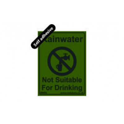 Rainwater label 75x100mm Self Adhesive Code RW03SA