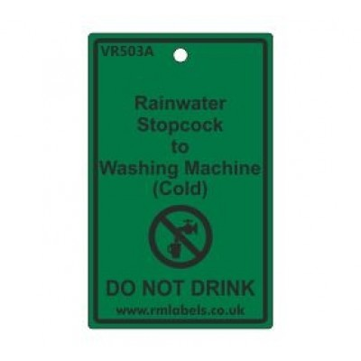 Rainwater Stopcock to Washing Machine Label Code VR503A