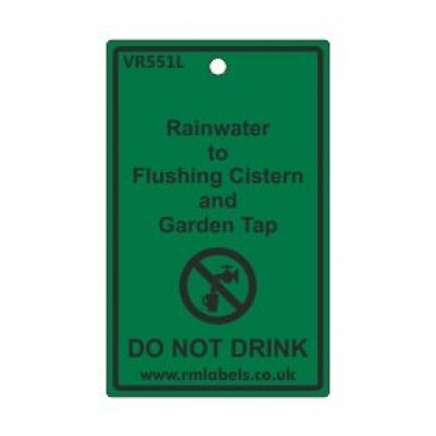 Rainwater to Flushing Cistern and Garden Tap Label Code VR551L