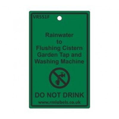 Rainwater to Flushing Cistern Garden Tap and Washing Machine Label Code VR551F