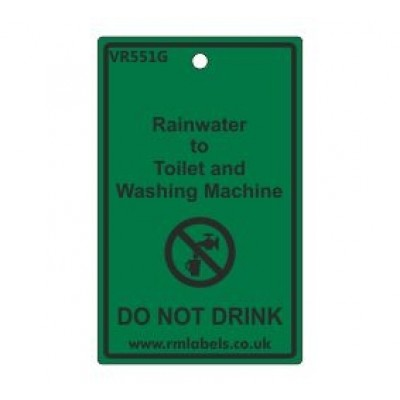 Rainwater to Toilet and Washing Machine Label Code VR551G