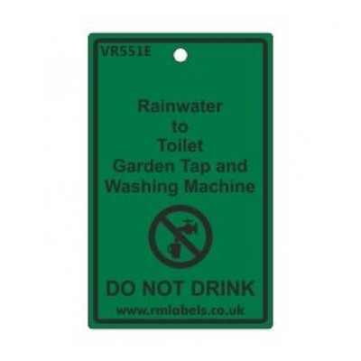Rainwater to Toilet Garden Tap and Washing Machine Label Code VR551E