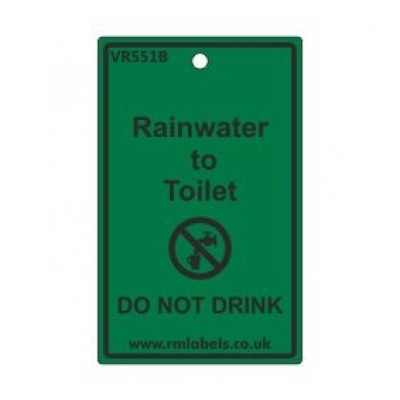 Rainwater to Toilet Label Code VR551B