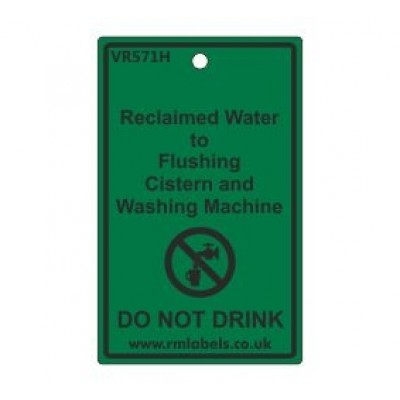 Reclaimed Water to Flushing Cistern and Washing Machine Label Code VR571H