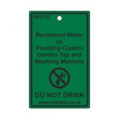 Reclaimed Water to Flushing Cistern Garden Tap and Washing Machine Label Code VR571F