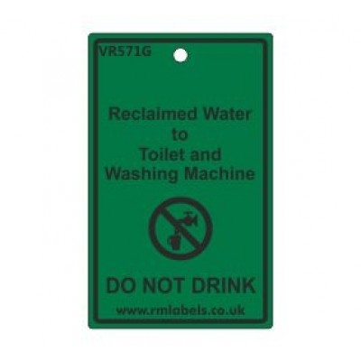 Reclaimed Water to Toilet and Washing Machine Label Code VR571G