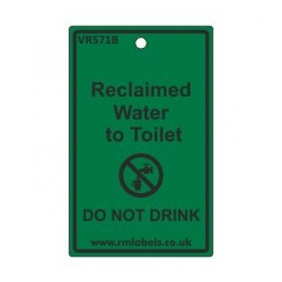 Reclaimed Water to Toilet Label Code VR571B