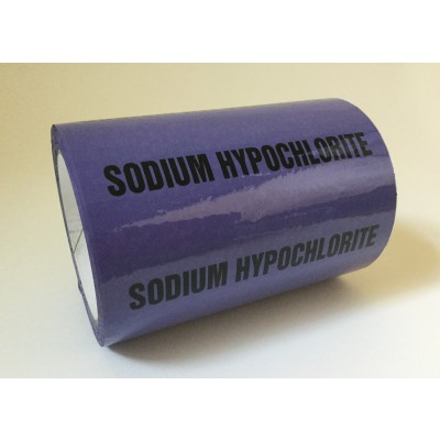 Sodium Hypochlorite Pipe Identification Tape 150mm - Violet 22-C-37 - R M Labels - ID493T150V6