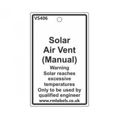 Solar Air Vent (Manual) Label Code VS406