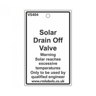 Solar Drain Off Valve Label Code VS404