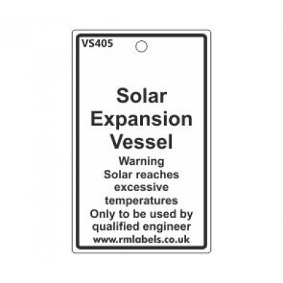 Solar Expansion Vessel Label Code VS405