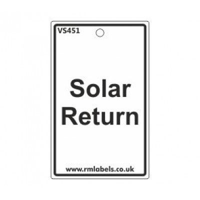 Solar Return Label Code VS451