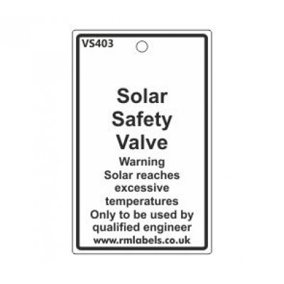 Solar Safety Valve Label Code VS403