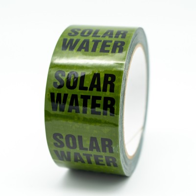 Solar Water Pipe Identification Tape - Green 12-D-45 - R M Labels - ID293T50G